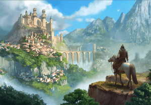 Castle and horseman