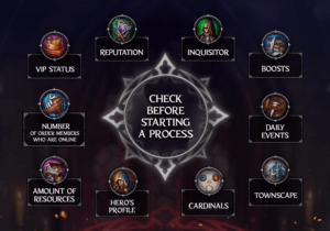 Throne: Kingdom at War guide to starting processes in your Town